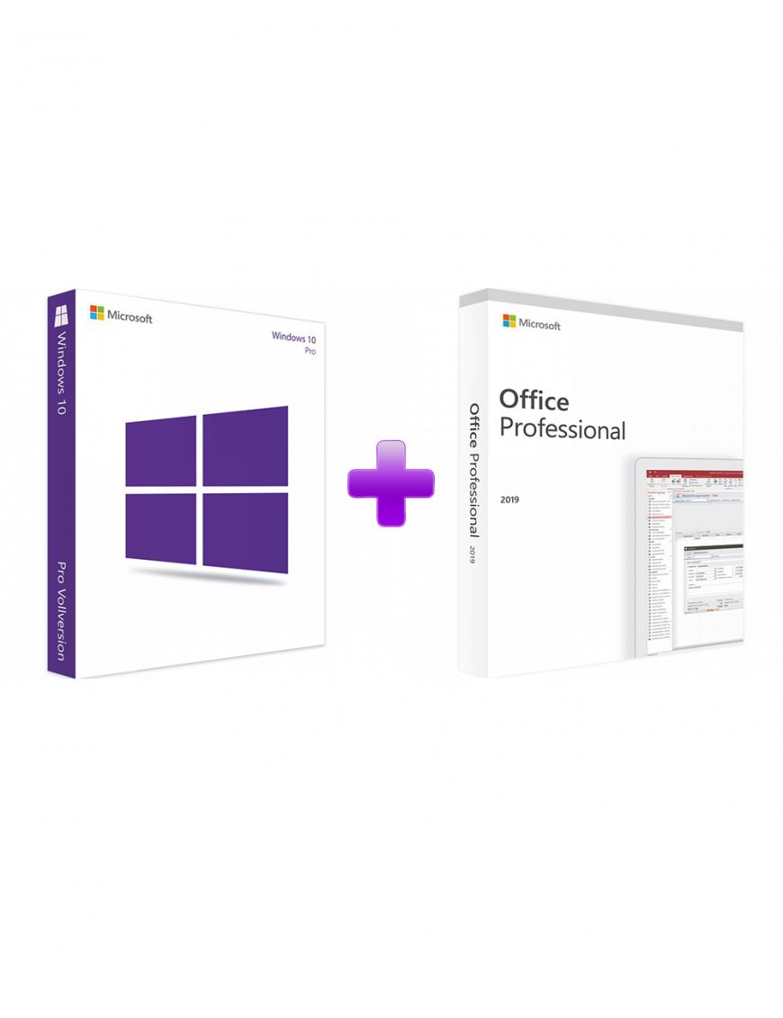 Windows 10 Professional + Office 2019 Professional (Bundle)