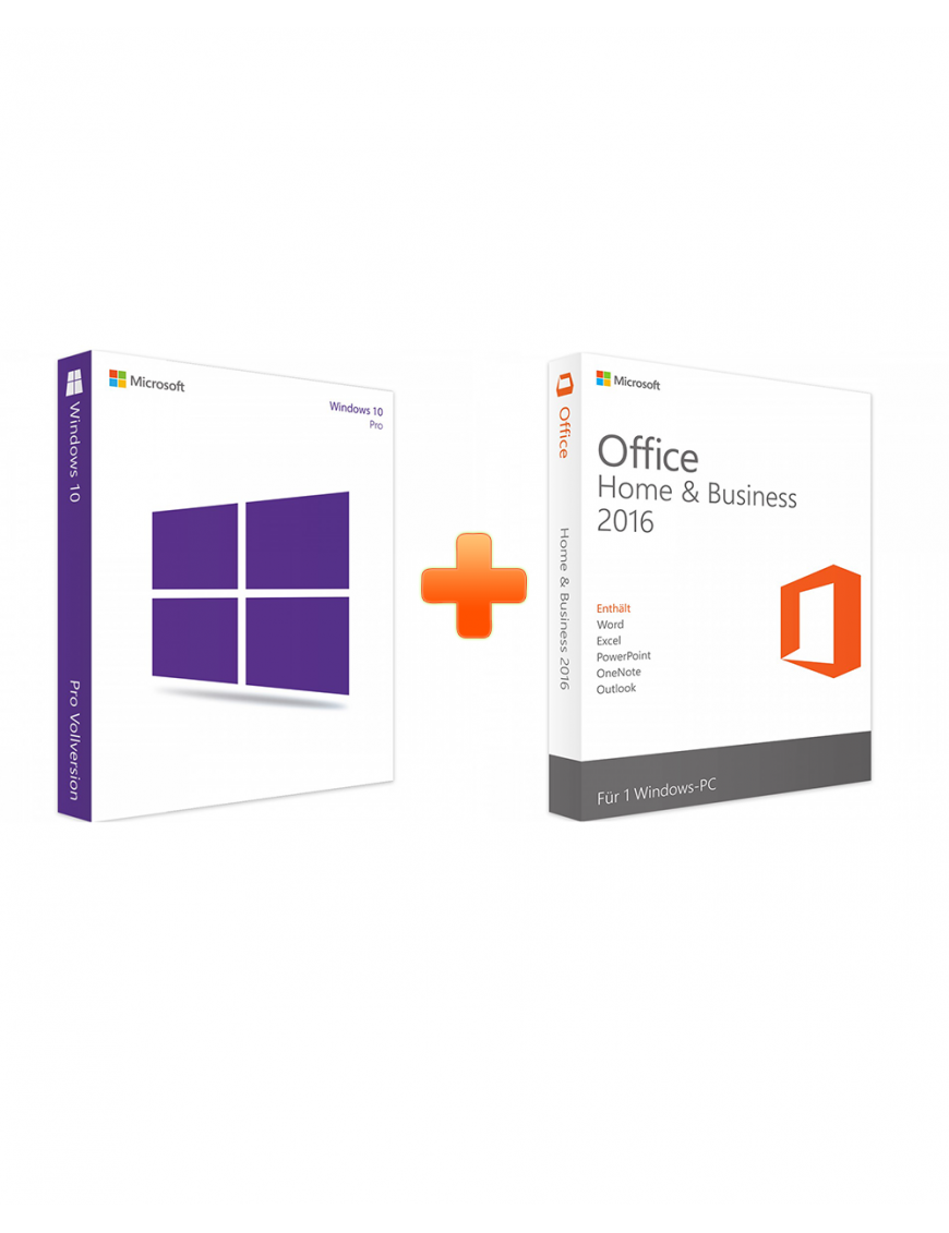 Windows 10 Professional + Office 2016 Home and Business (Bundle)