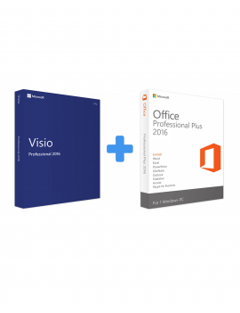 Visio 2016 Professional + Office 2016 Professional Plus (Bundle)